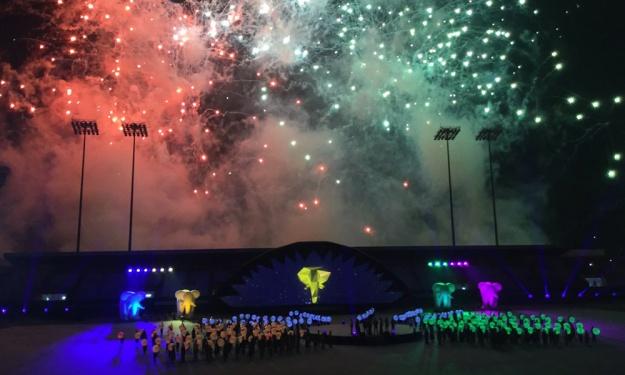 Abidjan : Lancement coloré pour ces 8ès Jeux de la Francophonie
