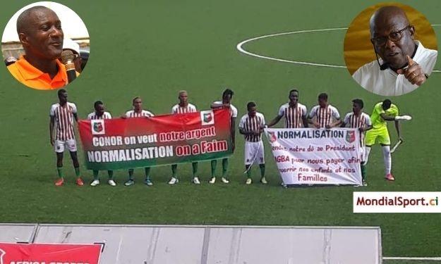 Africa Sports : Yssouf Diabaté promet une aide financière aux Aiglons et sollicite Roger Ouegnin pour régler le problème