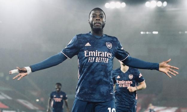 Arsenal : Nicolas Pépé retrouve une place de titulaire et le chemin des filets