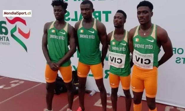 Athlétisme : Les Eléphants terminent sur le podium du relais 4x100m au Nigeria
