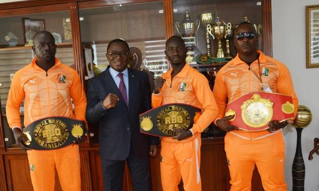 Boxe : Champions d'Afrique, les boxeurs Ivoiriens reçus par le Ministre Danho Paulin