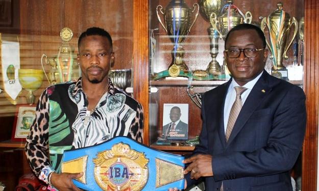 Boxe : Youssouf Doumbia reçu en audience par le Ministre Danho Paulin
