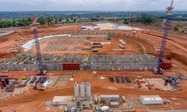 CAN 2023 : L'état d'avancement du stade de Yamoussoukro en images