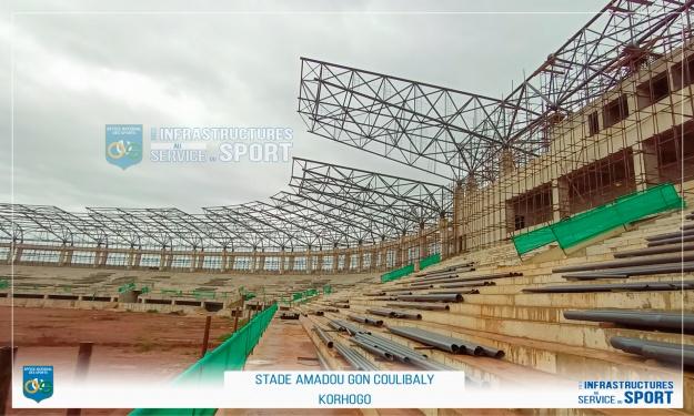 CAN 2023 : Le Président du COCAN visite les infrastructures de Korhogo