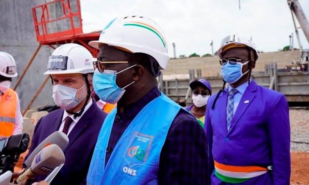 CAN 2023 : Visite du Ministre des Sports sur les chantiers de Yamoussoukro