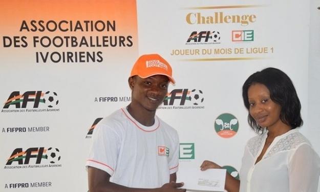 Challenge AFI – CIE : Doumbia Aboubacar reçoit sa prime