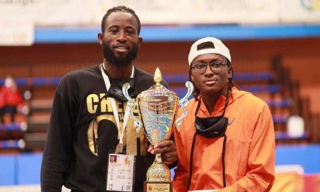 Cissé Cheick et Gbagbi Ruth reçoivent les félicitations du Ministère des Sports et du Développement de l'Economie Sportive