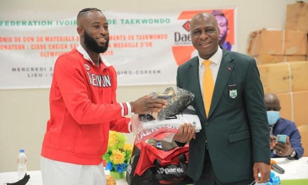 Cissé Cheick justifie son don d'une valeur de 30 Millions à la Fédération Ivoirienne de Taekwondo