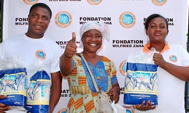 Fêtes de fin d'année : La Fondation Wilfried Zaha donne le sourire aux populations