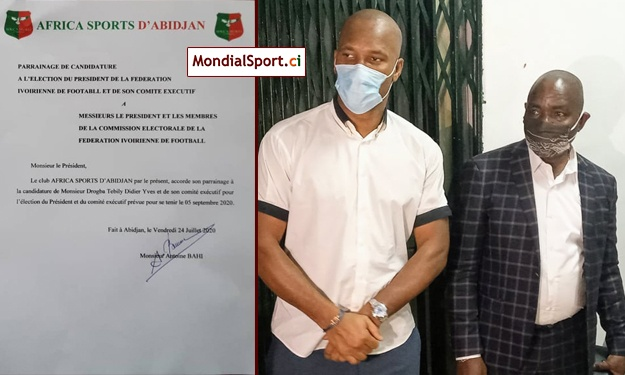 FIF : Drogba a reçu le parrainage de l'Africa Sports ce vendredi soir (Off.)
