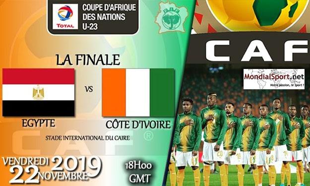 Finale CAN U23 2019 ''Egypte – Côte d'Ivoire'' : Compos des équipes