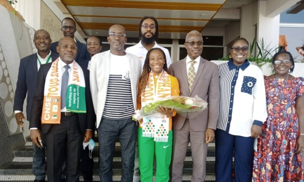 Finaliste du 100 et 200m Dames aux JO, Marie Josée Ta Lou est de retour en Côte d'Ivoire