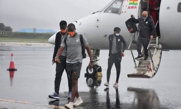 ''Ghana-Côte d'Ivoire'' : Les images de l'arrivée des Eléphants à Cape Coast