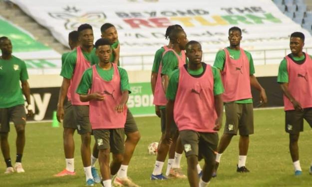 ''Ghana – Côte d'Ivoire'' : Les images de la séance d'entrainement des Eléphants au stade Cape Coast Sports