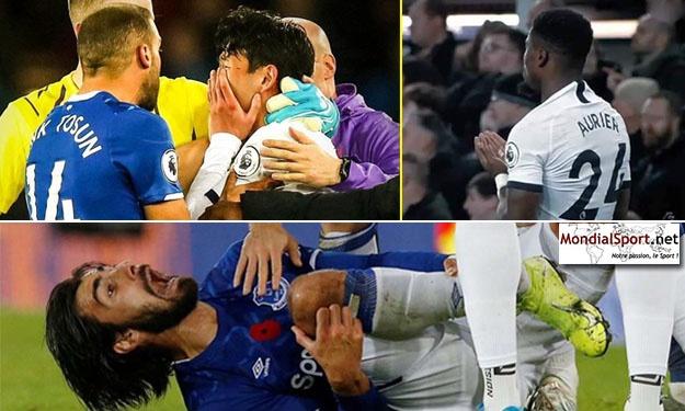 Heung-Min Son inconsolable, Aurier en prière : les terribles images de la fracture d'André Gomes