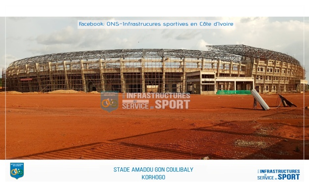 Infrastructures CAN 2023 : Le stade de Korhogo reçoit sa charpente
