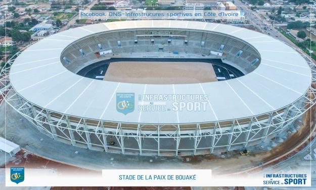 Infrastructures CAN 2023 : Le Stade de la Paix de Bouaké prêt à 76%