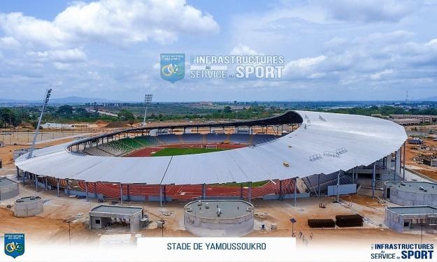 Infrastructures CAN 2023 : Le Stade de Yamoussoukro prêt à 98%
