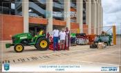 Infrastructures : La réhabilitation de la pelouse du stade d'Ébimpé est lancée avec la réception du matériel
