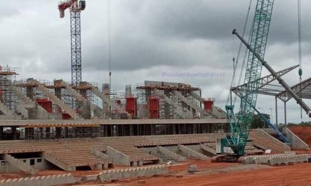 Infrastructures : Les dernières images du stade de Yamoussoukro en construction