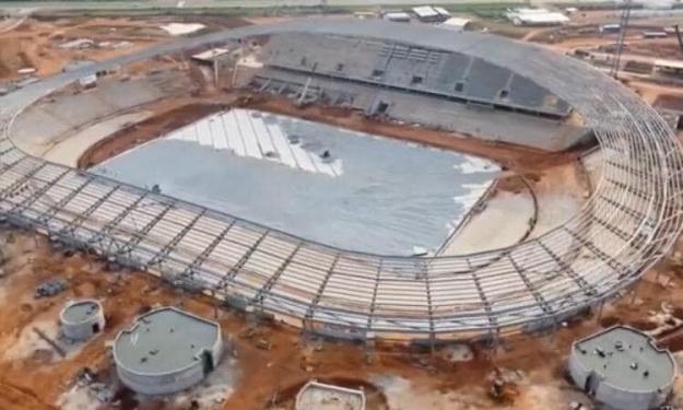 Infrastructures : Voici les dernières images de l'état d'avancement des travaux du stade de Yamoussoukro