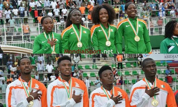 Jeux de la Francophonie : La Côte d'Ivoire s'offre l'Or au 4x100m (vidéo)