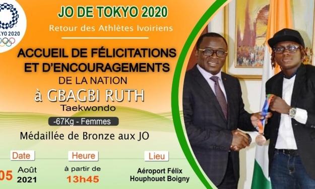 JO - Arrivée de Gbagbi Ruth à Abidjan : Y a-t-il une brouille entre CNO et le Ministère des Sports ?