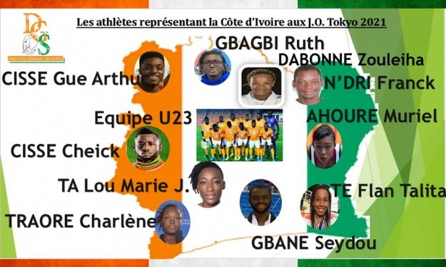 JO de Tokyo : Voici les 32 Athlètes Ivoiriens à la conquête de l'Or Olympique