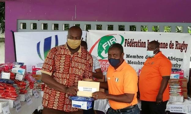 La Fédération Ivoirienne de Rugby solidaire en vers les clubs