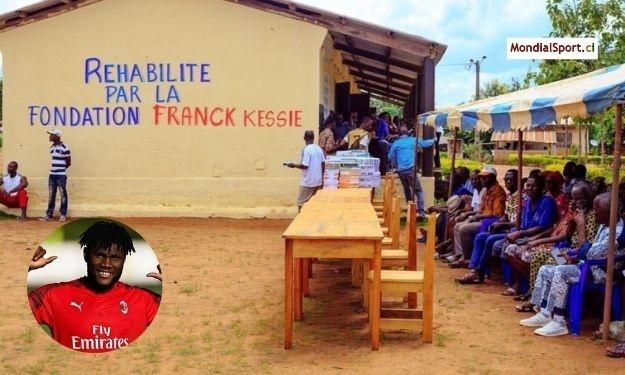 La fondation Franck Kessié fait le bonheur des élèves et enseignants de Zebizekou