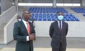 Le Centre Sportif, Culturel et des TIC reçoit la visite du Ministre du Budget et du portefeuille de l'Etat