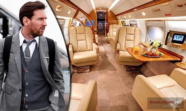 Le nouveau jet privé de Messi vu de l'intérieur… ça en jette !