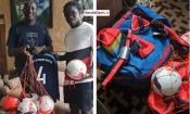 Le Sporting Club de Gagnoa reçoit des équipements de la part de l'un de ses anciens pensionnaires