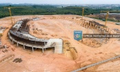 Les toutes dernières images de l'état d'avancement des travaux du stade de San Pedro