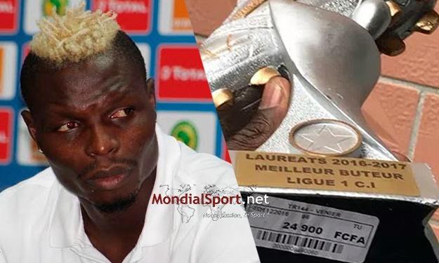 Ligue 1 Ivoirienne : Le Fameux trophée à 24.900 F CFA remis à Aristide Bancé