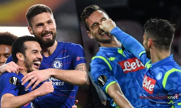 Ligue Europa (8ès Aller) : Chelsea et Naples prennent une option sur la qualification