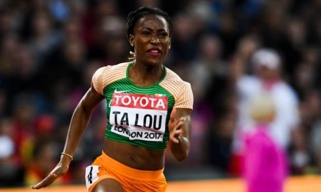 Marie Josée Ta Lou se mesure aux hommes sur 100m et termine 2è de la course