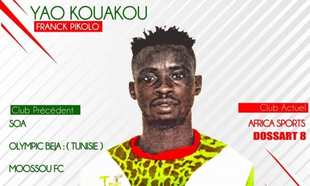 MTN Ligue 1 : L'Africa Sports enregistre l'arrivée d'un nouvel attaquant