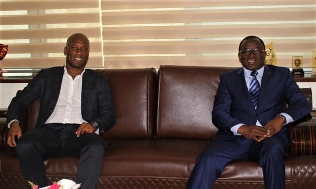 Présidence FIF : Après le couple Présidentiel, Drogba reçu par le Ministre des Sports