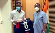 Allemagne : Sur le départ, Kalou transmet ses amitiés à l'ambassadeur de Côte d'Ivoire