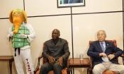 Taekwondo : L'arrivée à Abidjan du Grand-Maître KIM Young Tae pour l'inauguration du Centre Sportif, Culturel et des TIC