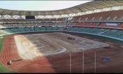 Types de gazons utilisés, délai d'exécution des travaux, … tout savoir de la nouvelle pelouse du Stade d'Ebimpé