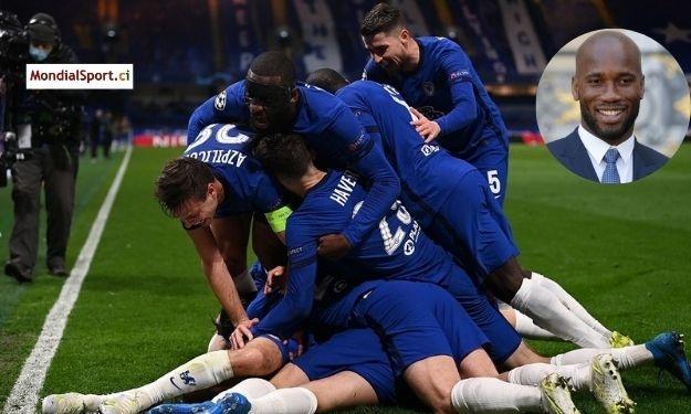 UEFA-LDC : L'explosion de joie de Drogba après la qualification de Chelsea
